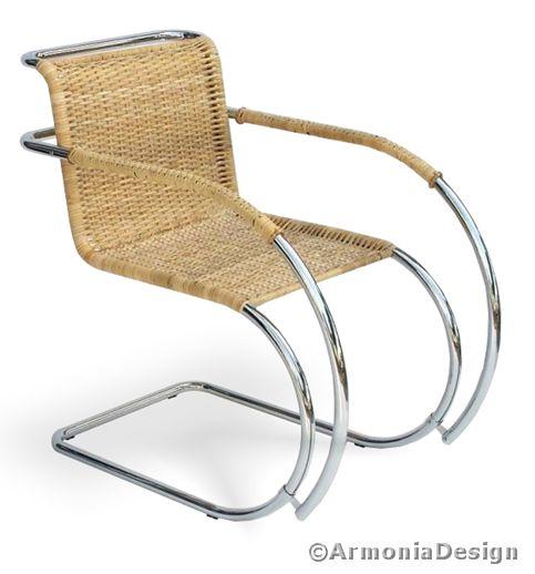 Poltroncina ludwig mies van der rohe corteccia di giunco for Bauhaus arredamento