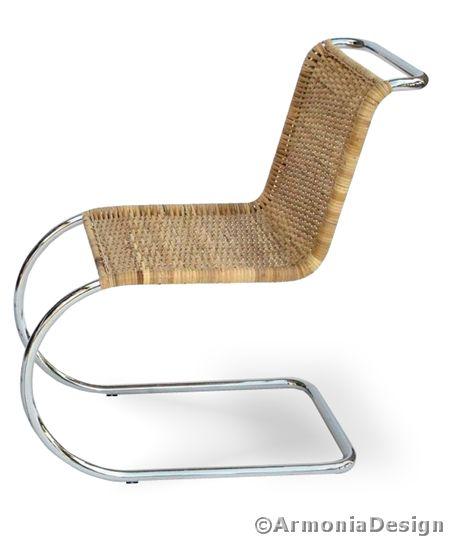 Sedia ludwig mies van der rohe corteccia di giunco buon - Mies van der rohe sedia ...