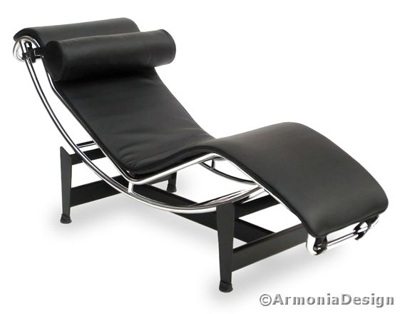 chaise longue le corbusier pelle smerigliata victory nero 9992 25 355 50 bauhaus. Black Bedroom Furniture Sets. Home Design Ideas